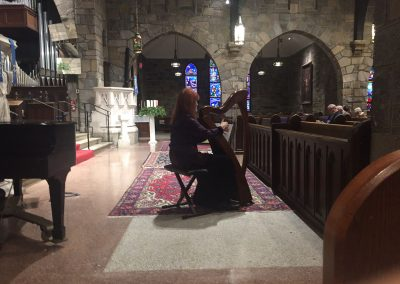Barbra plays in the beautiful setting of All Saints Church